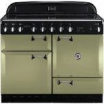 RANGEMASTER Elan 110 Induction Range Cooker – Olive Green & Chrome, Olive