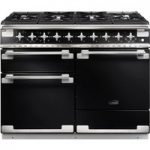 RANGEMASTER Elise 110 Dual Fuel Range Cooker – Black & Chrome, Black