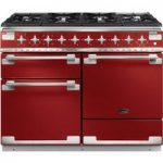 RANGEMASTER Elise 110 Dual Fuel Range Cooker – Cherry Red & Chrome, Red