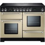 RANGEMASTER Kitchener 110 Electric Ceramic Range Cooker – Cream & Chrome, Cream