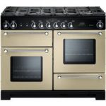 RANGEMASTER Kitchener 110 Dual Fuel Range Cooker – Cream & Chrome, Cream