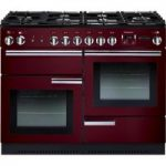 RANGEMASTER Professional 110 Dual Fuel Range Cooker – Cranberry & Chrome, Cranberry