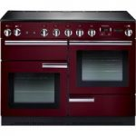 RANGEMASTER Professional 110 Electric Induction Range Cooker – Cranberry & Chrome, Cranberry
