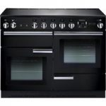 RANGEMASTER Professional 110 Electric Induction Range Cooker – Black & Chrome, Black