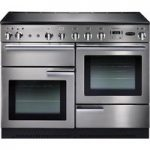 RANGEMASTER Professional 110 Electric Induction Range Cooker – Stainless Steel & Chrome, Stainless Steel