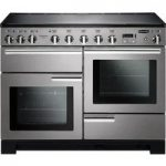 RANGEMASTER Professional Deluxe 110 Electric Induction Range Cooker – Stainless Steel & Chrome, Stainless Steel