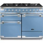 RANGEMASTER Elise 110 Dual Fuel Range Cooker – China Blue & Chrome, Blue