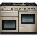 RANGEMASTER Professional 110 Dual Fuel Range Cooker – Cream & Chrome, Cream