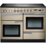 RANGEMASTER Professional 110 Electric Range Cooker – Cream & Chrome, Cream