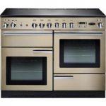 RANGEMASTER Professional 110 Electric Range Cooker – Cream & Chrome, Cream