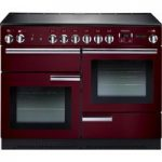 RANGEMASTER Professional 110 Electric Range Cooker – Cranberry & Chrome, Cranberry