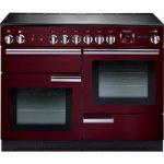 RANGEMASTER Professional 110 Electric Range Cooker – Cranberry & Chrome, Cranberry