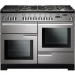 RANGEMASTER Professional Deluxe 110 Dual Fuel Range Cooker – Stainless Steel & Chrome, Stainless Steel