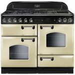 RANGEMASTER Classic 110 Gas Range Cooker – Cream & Chrome, Cream