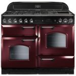 RANGEMASTER Classic 110 Gas Range Cooker – Cranberry & Chrome, Cranberry