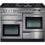 RANGEMASTER Professional 110 Gas Range Cooker – Stainless Steel & Chrome, Stainless Steel