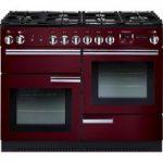 RANGEMASTER Professional 110 Gas Range Cooker – Cranberry & Chrome, Cranberry