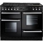 RANGEMASTER Toledo 110 Dual Fuel Range Cooker – Black & Chrome, Black