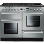 RANGEMASTER Toledo 110 Dual Fuel Range Cooker – Stainless Steel & Chrome, Stainless Steel