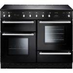 RANGEMASTER Toledo 110 Electric Ceramic Range Cooker – Black & Chrome, Black