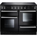 RANGEMASTER Toledo 110 Induction Range Cooker – Black & Chrome, Black