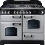 RANGEMASTER Classic Deluxe 110 Dual Fuel Range Cooker – Royal Pearl & Chrome