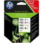 HP 920XL Cyan, Magenta, Yellow & Black Ink Cartridges – Multipack, Cyan