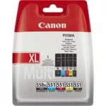 CANON PGI-550XL/CLI-551 Cyan, Magenta, Yellow & Black Ink Cartridges – Multipack, Cyan