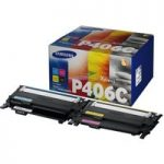 SAMSUNG P406C Cyan, Magenta, Yellow & Black Toner Cartridges – Multipack, Cyan