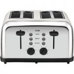 LOGIK L04TC14 4-Slice Toaster – Silver & Cream, Silver