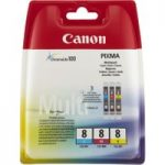 CANON PIXMA CLI-8 Cyan, Magenta & Yellow Ink Cartridges – Multipack, Cyan