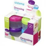 SISTEMA Round 0.35-litres Dressing Pots – Pack of 4