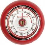 EDDINGTONS Retro Magnetic Kitchen Timer – Red, Red