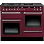 RANGEMASTER Hi-Lite 110 Dual Fuel Range Cooker – Cranberry & Chrome, Cranberry
