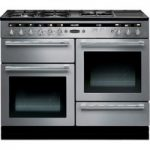 RANGEMASTER Hi-Lite 110 Dual Fuel Range Cooker – Stainless Steel & Chrome, Stainless Steel