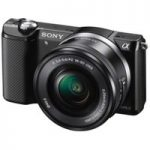SONY a5000 Compact System Camera with 16-50 mm f/3.5-5.6 OSS Zoom Lens, Black