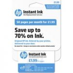 HP Instant Ink Enrollment card – 50 pages per month