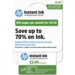 HP Instant Ink Enrollment card – 100 pages per month