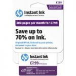 HP Instant Ink Enrollment card – 300 pages per month